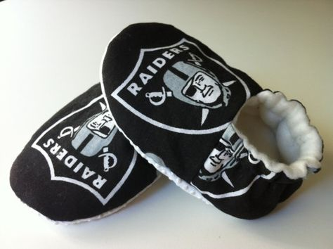 NFL Baby Booties Raiders 49ers Cowboys by ChucksForChancho on Etsy, $20.00   @April Eller !!!!!!!!!!!!