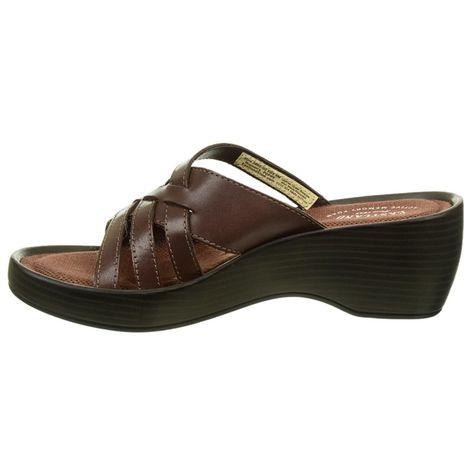 e9d13561f242 Eastland Women s Poppy Memory Foam Wedge Sandals (Brown Leather)