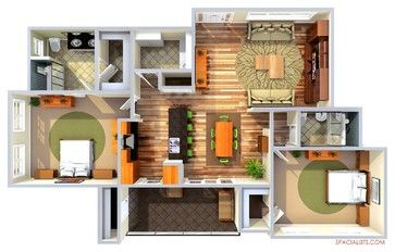 3D Floor Plan Contemporary
