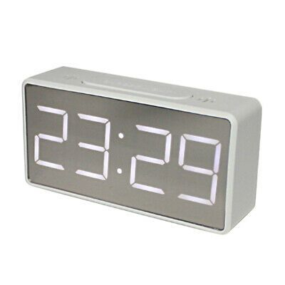 Details About Led Digital Alarm Clock Mirror Clock 12h 24h Display For Children Room White In 2020 Digital Alarm Clock Electric Clock Alarm Clock
