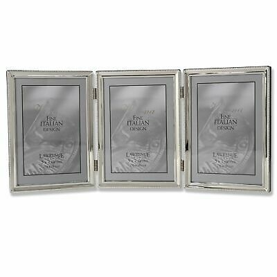 Details About Lawrence Frames Polished Silver Plate 5x7 Hinged Triple Picture Frame Bead In 2020 With Images Lawrence Frames Gold Picture Frames Hinged Picture Frame