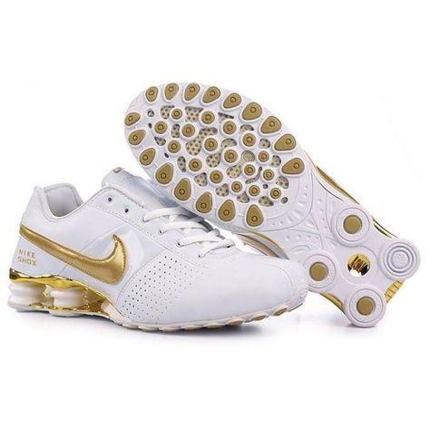 various colors 295ca 7e701 Nike Shox OZ Large Hook Gold White Couple Shoes  79.59