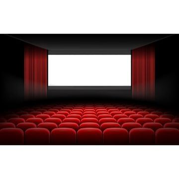 White Cinema Theatre Screen With Red Curtains And Chairs Cinema Clipart Screen Theater Png And Vector With Transparent Background For Free Download Red Curtains Cinema Theatre Round Table And Chairs