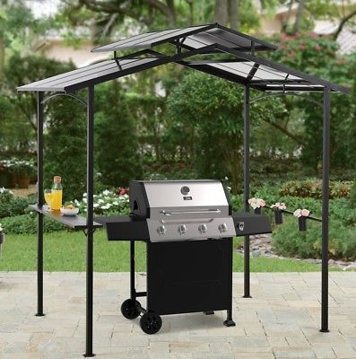 Grill Gazebo Barbecue Shelter Hardtop Bbq Canopy Shade Hard Top W