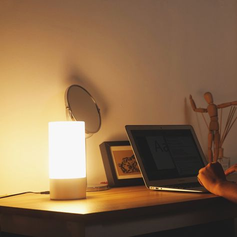 AUKEY Table Lamp Touch Sensor Bedside Lamps Dimmable Warm