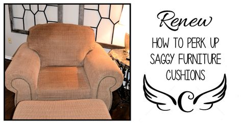 How to perk up saggy cushions with foam sheets, batting, poly-fil, and spray adhesive