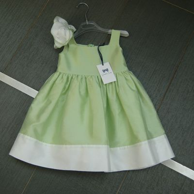 Vestito verde tiffany bambina