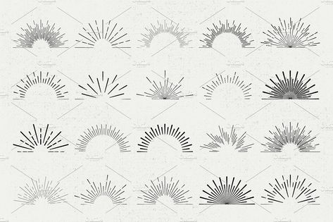 Big Sunburst Bundle by ToriArt on @creativemarket
