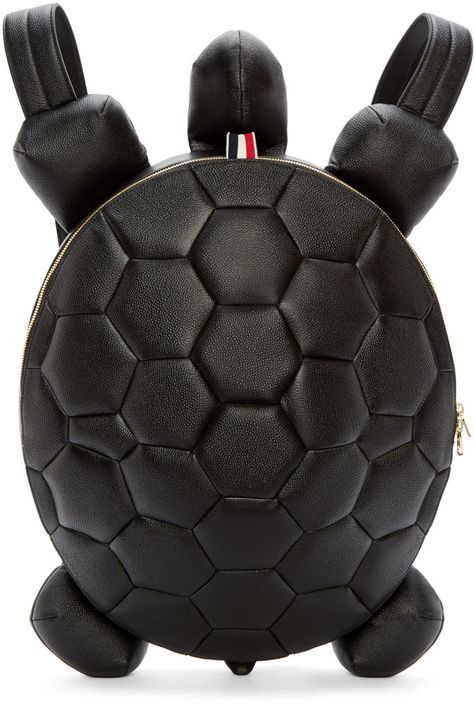 833738d100fe Thom Browne - Black Leather Turtle Backpack