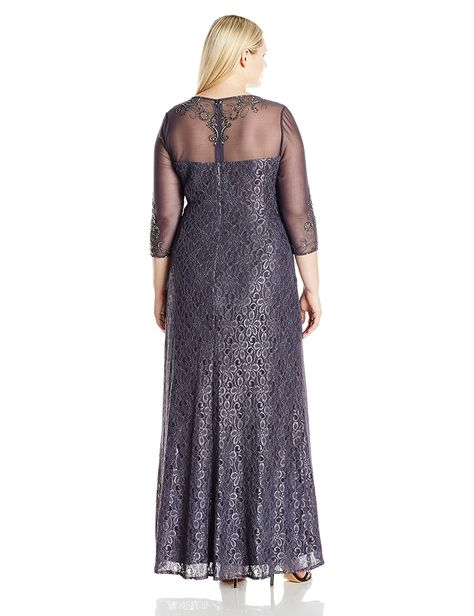 d688c8b4c44af Alex Evenings Women s Plus Size Long Sweetheart Neckline Dress and Illusion  Neckline -- More info could be found at the image url.
