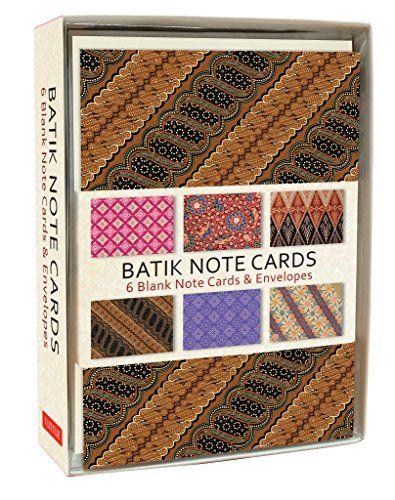 Batik Note Cards 6 Blank Note Cards Envelopes 4 X 6 I Https Www Amazon Com Dp 0804850763 Ref Cm Sw R Pi Blank Note Cards Note Cards Cards Envelopes