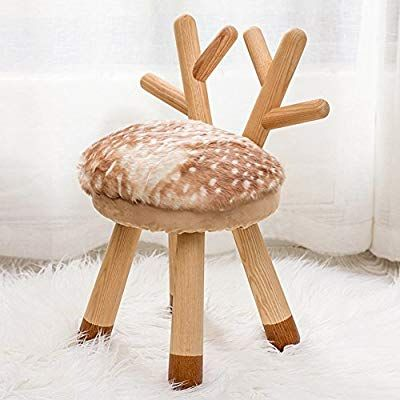 Hm Dx Upholstered Footstool Small Solid Wood Animal Features Footrest Stool Seat With Removable Velvet Cover Upholstered Footstool Wood Animal Leather Ottoman