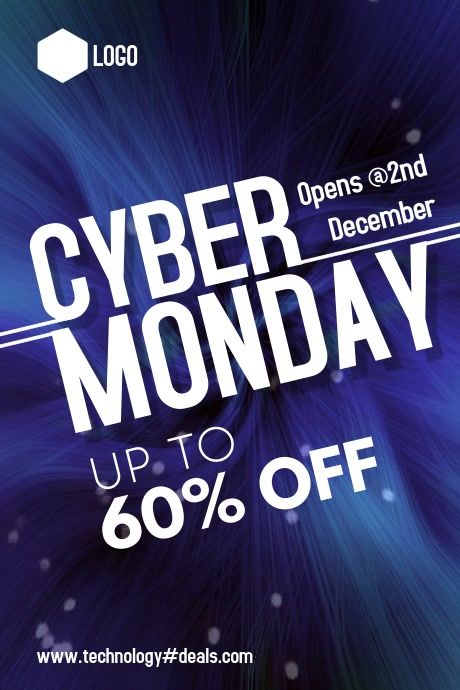 Cyber Monday In 2020 Black Friday Flyer Cyber Monday Banner Black Friday