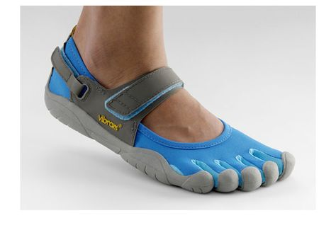 I'm seeing more and more people wearing Vibram and now I WANT! These ones would be best for runners as they have a nifty strap to keep them secure.