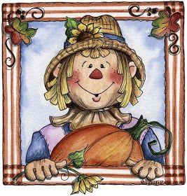 Sgblogosfera Maria Jose Argueso Estaciones Y Espantapajaros Fall Clip Art Autumn Art Scarecrow Face