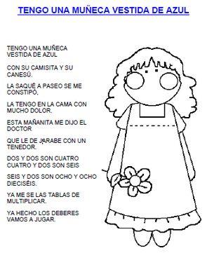 Letra Canciones Infantiles Buscar Con Google Letras De
