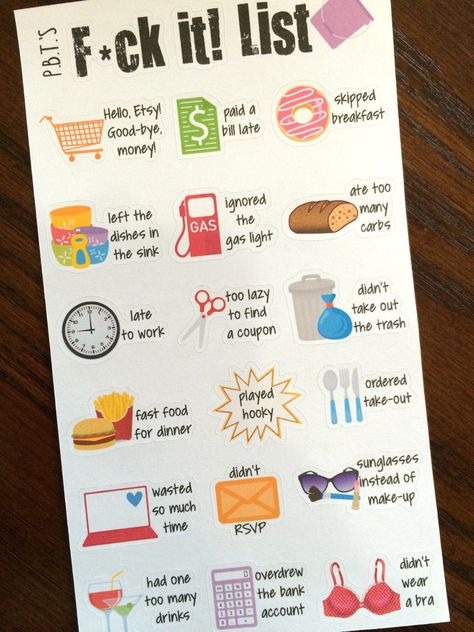 Fck it List Planner Stickers Adulting Planner Stickers image 2
