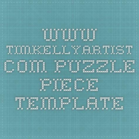 www.timkellyartist.com Puzzle piece template