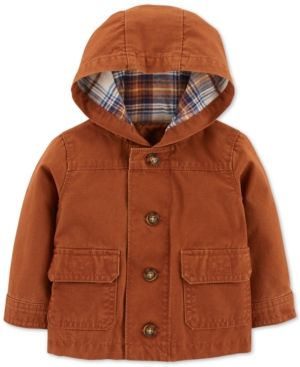 Baby boy girl winter jacket 9 months puffer vest//hoodie Carters orange Grey