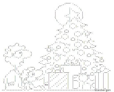 Chris.com - ASCII ART - Christmas - Santa Claus - Cristmas Tree ...