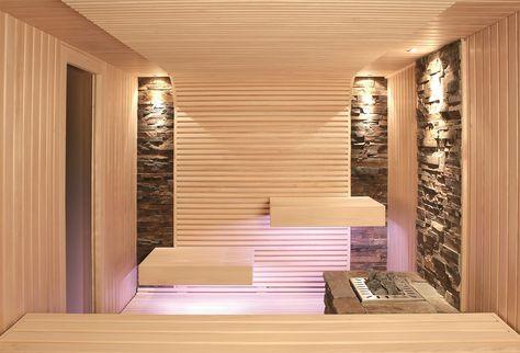 kleines badezimmer sauna fliesen marmor optik sauna Pinterest