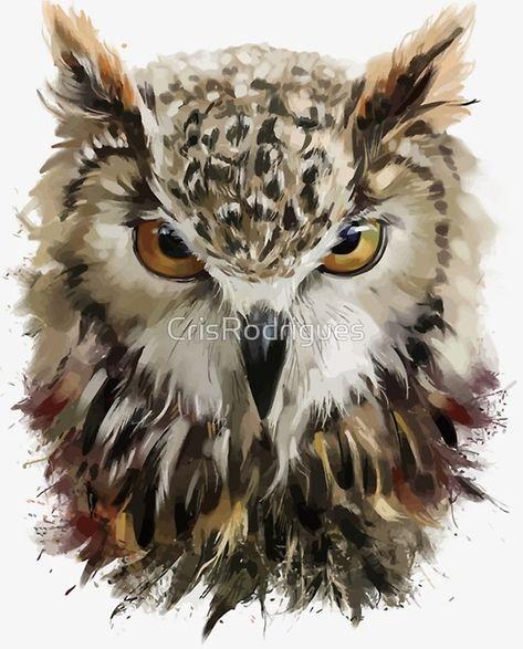 Illustration about Owl head watercolor illustration in grunge style. Illustration of digital, wild, illustration - 86284990