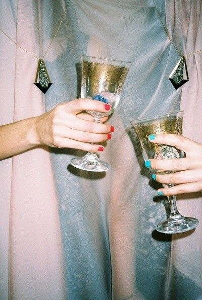 Manicures and Champagne // Belle Belle Beauty