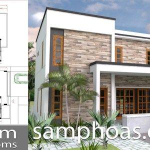 3 Bedrooms Home Design Plan 10x12m Samphoas Plan Denah Desain Rumah Desain Rumah Rumah Modern