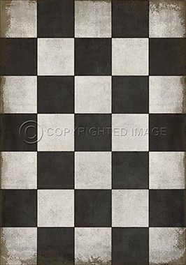 Spicher And Company Checkered Past Vinyl Floorcloth With Images