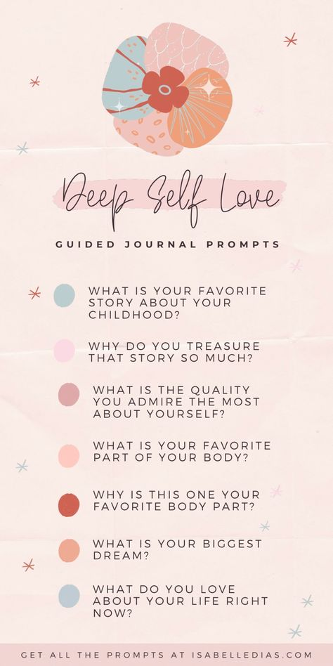 Looking for self love journal prompts inspiration? Let me share with you my guided positive self esteem and self love journal prompts for women, the perfect way to give your first steps to find yourself, inner child healing and deep self discovery.
