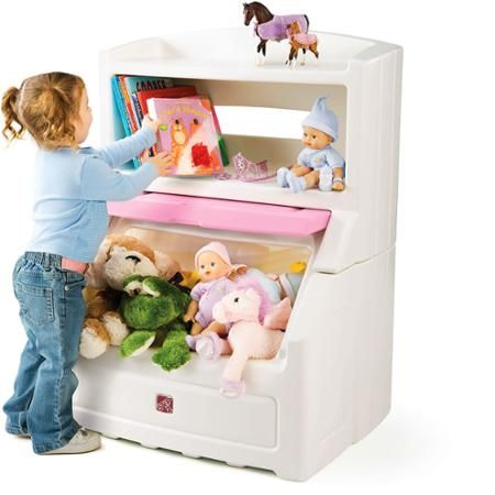 Step2 Lift Hide Bookcase Storage Chest Choose Your Color Walmart Com Kid Toy Storage Kids Storage Bins Toddler Storage