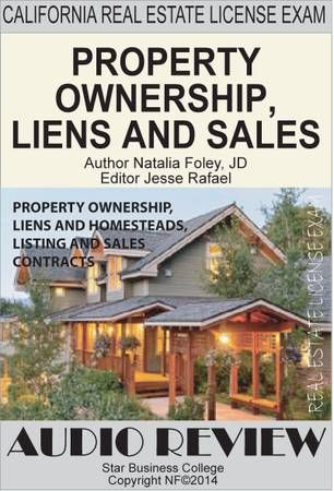 PROPERTY OWNERSHIP, LIENS, LISTING \ SALES CONTRACTS, California - property sales contracts