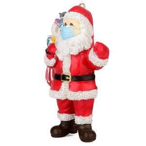2020 Santa Wearing A Face Mask Christmas Decorations Suitbs Hanging Christmas Tree Creative Christmas Gifts Christmas Tree Ornaments
