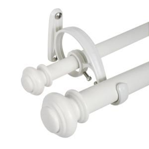 Decopolitan Urn 72 In To 144 In Telescoping Double Curtain Rod