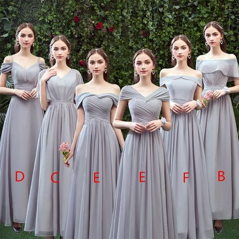 Unique Tulle Jewel Appliqued A-line Evening Dresses With Pearls - A-line Off-shoulder Long Chiffon Bridesmaid Dresses With Pleats -