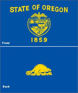 Oregon S State Flag Is The Only State Flag To Carry Two Separate Designs With A Beaver On Its Reverse Side Oregon State Flag State Of Oregon State Flags