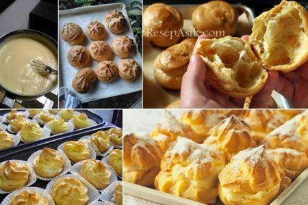Resep Kue Sus Isi Vla Empuk Lembut Indahnya Berbagi Savory Snacks Food Dessert Drinks