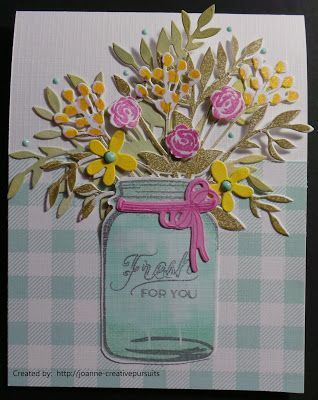 Jar of Flowers Card Card for a Friend Just For You Greeting Card