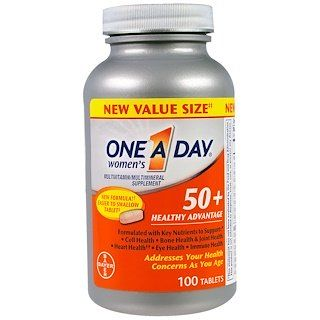 One A Day Women S 50 Complete Multivitamin 100 Tablets Multivitamin Multivitamin Tablets Supplements