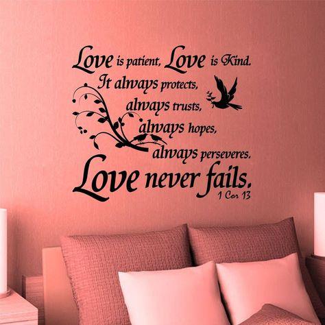 Vinyl Wall Art Decal. Christian. Bible Scripture: 1 Corinthians 13:4 #Unbranded