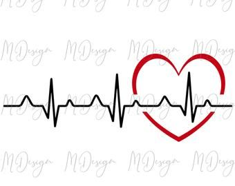 Heartbeat Svg Dxf Png Love Clipart Love Life Medical Etsy Clip Art Heart Rate Tattoo Make Your Own Invitations