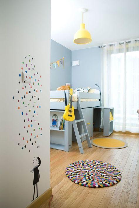 Chambre d'un enfant de 5 ans réalisée par Delphine Guyart.