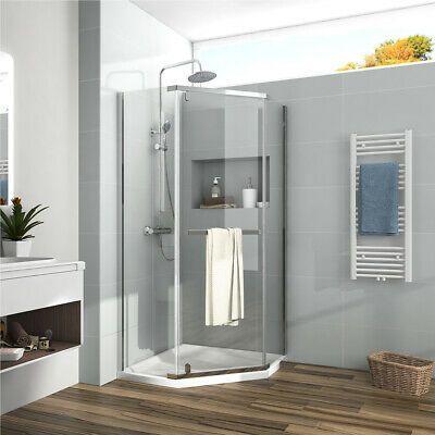 Details About Bath Neo Angle Frameless Pivot Corner Shower