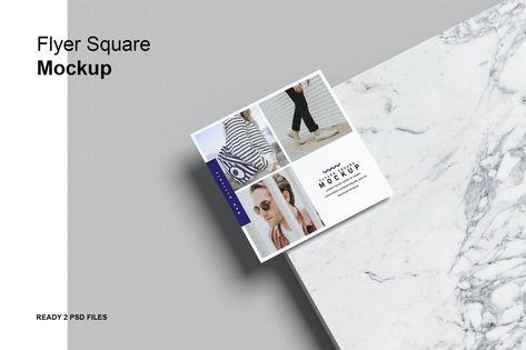 Flyer Square Mock-Up by GraphicGata on Envato Elements