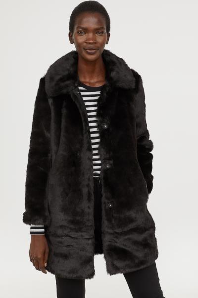 Pdp Black Faux Fur Coat Fur Coat Faux Fur Coat