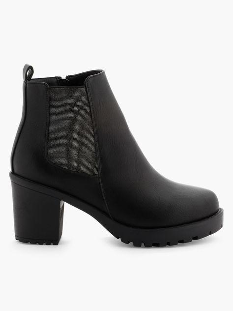 tout neuf grande vente de liquidation beauté Boots Empiècements élastiqués LIBERTO Noir - Achat Boots ...