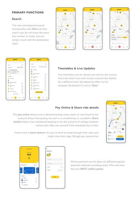 MyBMTC- A bus tracking app UX/UI Case Study
