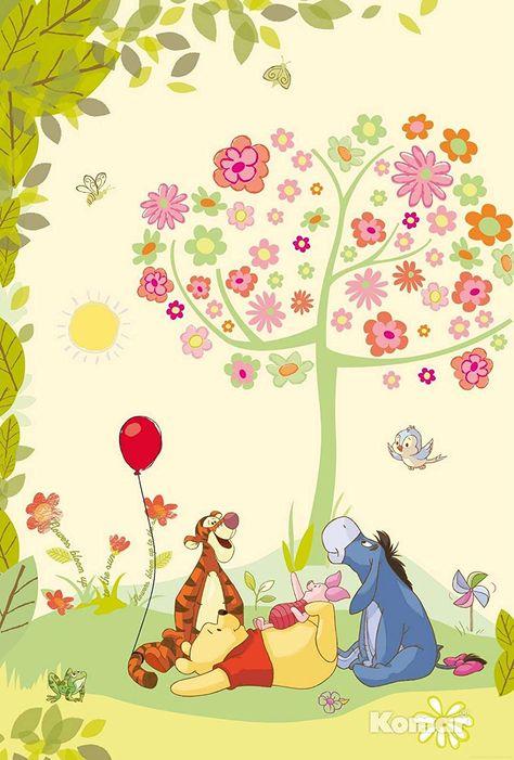 Fototapete Kindertapete Winnie Pooh Disney Cartoon