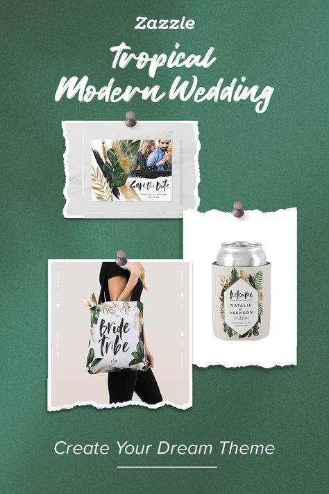 Tropical Modern Wedding - Zazzle