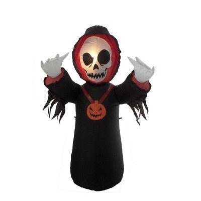 BZB Goods Halloween Inflatable Grim Reaper Decoration Grim reaper
